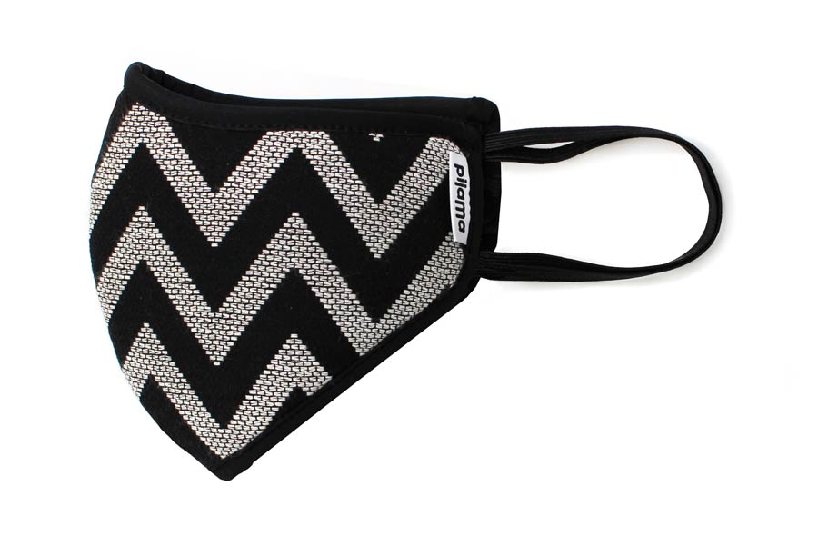 mascherina M zigzag black